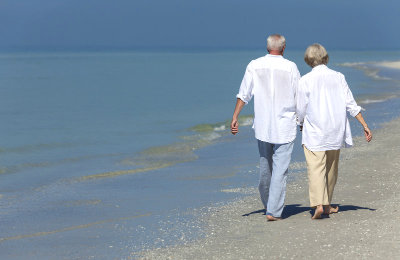 retirees walking